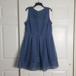 Plus Sized Blue formal dress